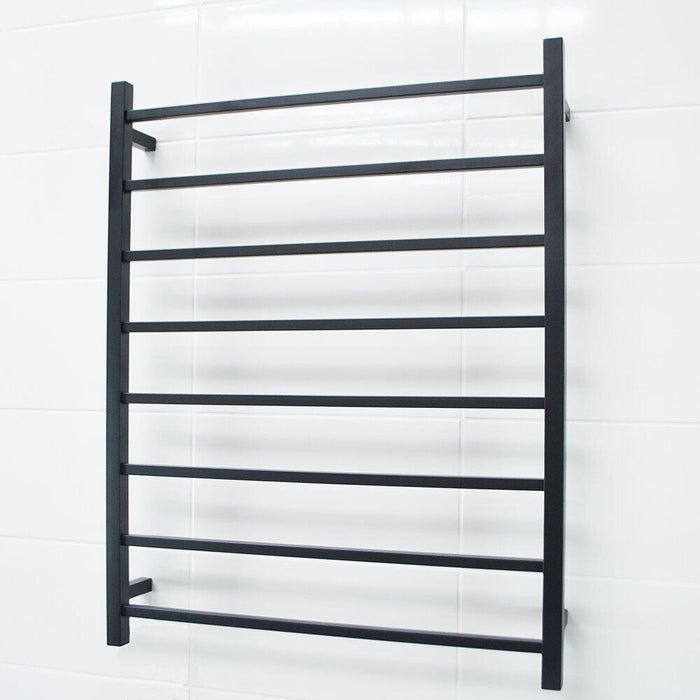 Radiant Heated Towel Rail Square 800x1000 (Matte Black)