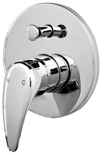 Castano Capri Wall Mixer with Diverter (Chrome) CAWDIC
