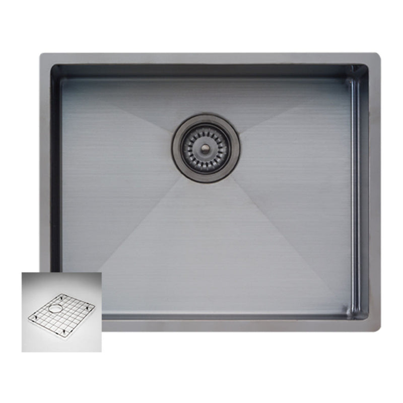 Oliveri Spectra Single Bowl Sink (Gun Metal) CS01GM includes bowl protector (ACBPGM)