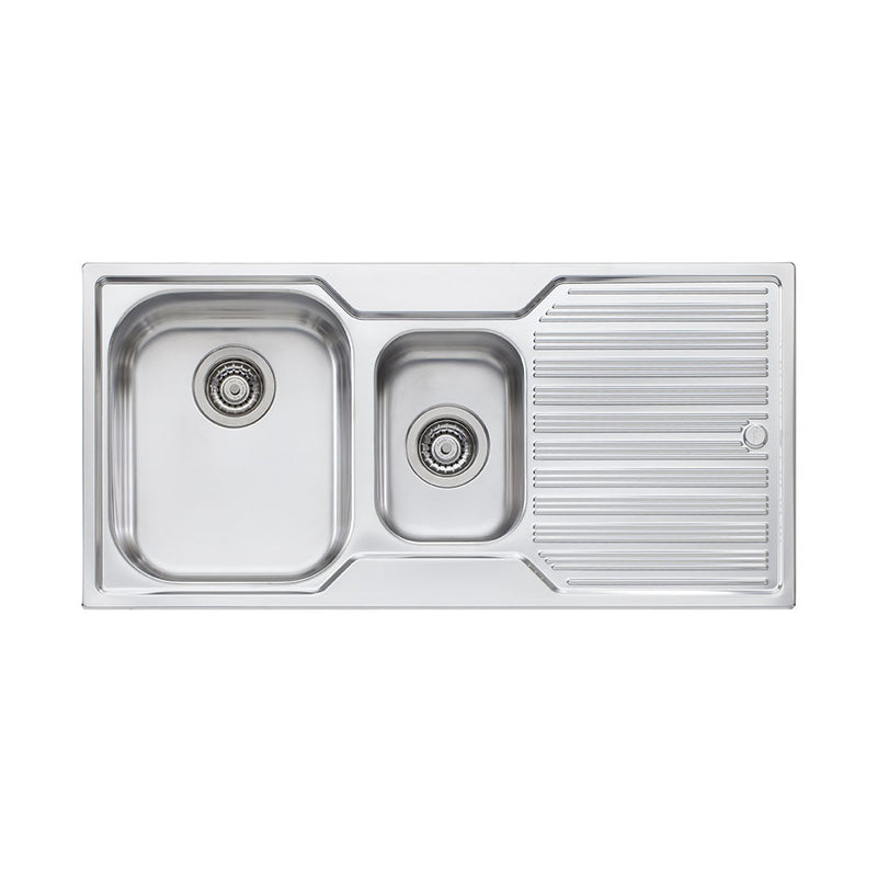 Oliveri Diaz 1 And 1/2 Bowl Topmount Sink with Drainer DZ101 NTH