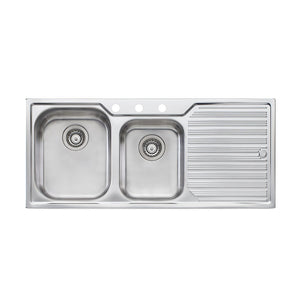Oliveri Diaz 1 And 3/4 Bowl Topmount Sink with Drainer DZ111 3TH