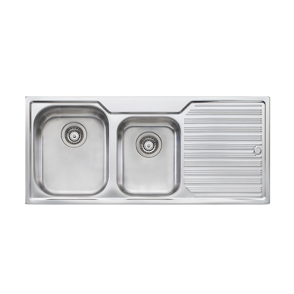 Oliveri Diaz 1 And 3/4 Bowl Topmount Sink with Drainer DZ111 NTH