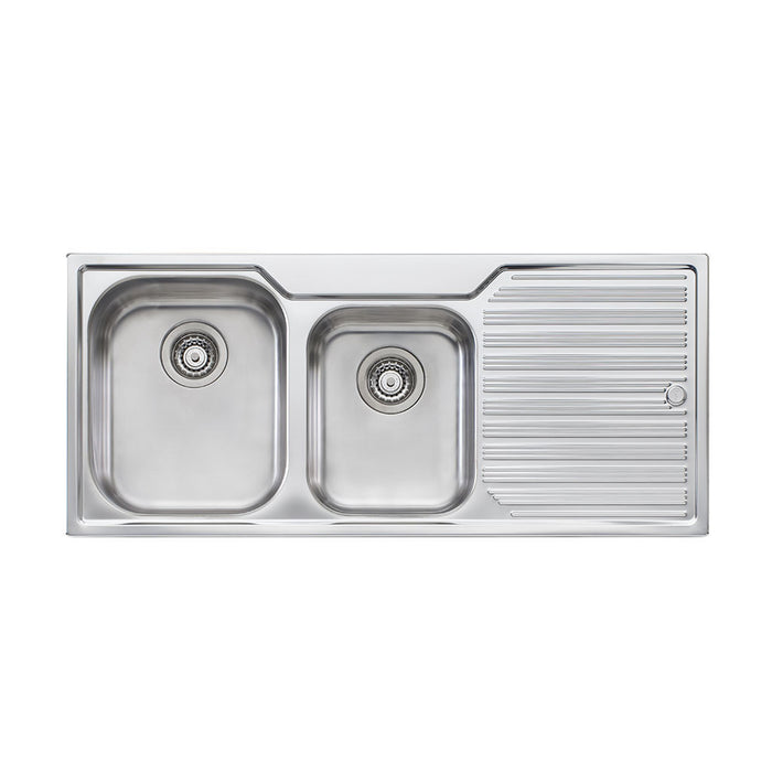 Diaz 1 and 3/4 Bowl Topmount Sink with Drainer NTH