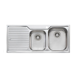 Oliveri Diaz 1 And 3/4 Bowl Topmount Sink with Drainer DZ112 1TH