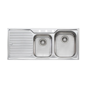 Oliveri Diaz 1 And 3/4 Bowl Topmount Sink with Drainer DZ112 3TH