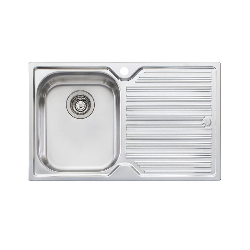 Oliveri Diaz Single Bowl Topmount Sink with Drainer DZ121 1TH