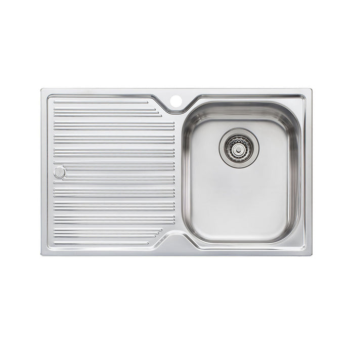 Diaz Single Bowl Topmount Sink with Drainer 1TH