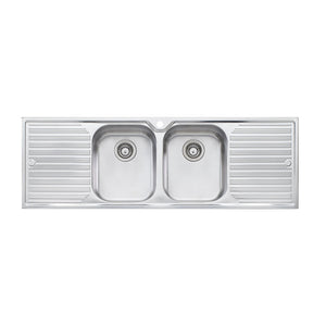 Oliveri Diaz Double Bowl Topmount Sink with Double Drainer DZ153 1TH