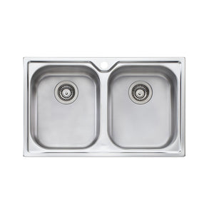 Oliveri Diaz Double Bowl Topmount Sink DZ163 1TH
