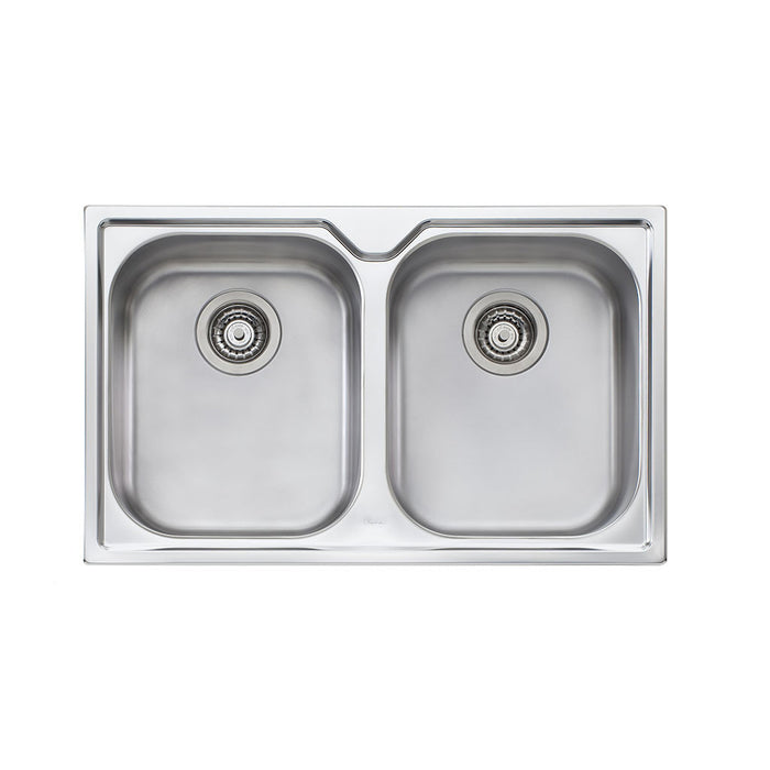 Diaz Double Bowl Topmount Sink NTH