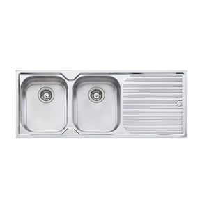 Oliveri Diaz Double Bowl Topmount Sink with Drainer DZ171 NTH