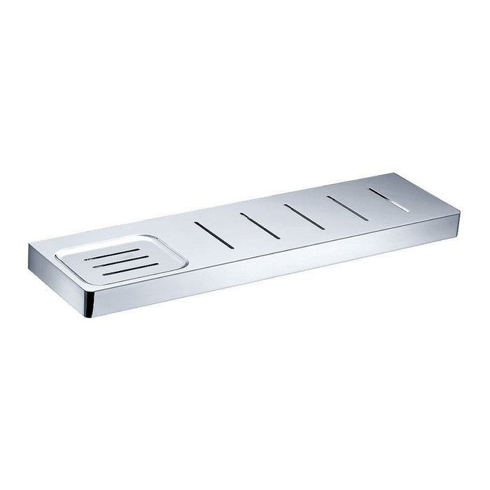 Eneo Shelf with Drain Slots & Soap Dish (Chrome)
