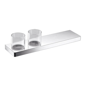 Streamline Eneo Shelf with Double Tumbler & Holder Chrome