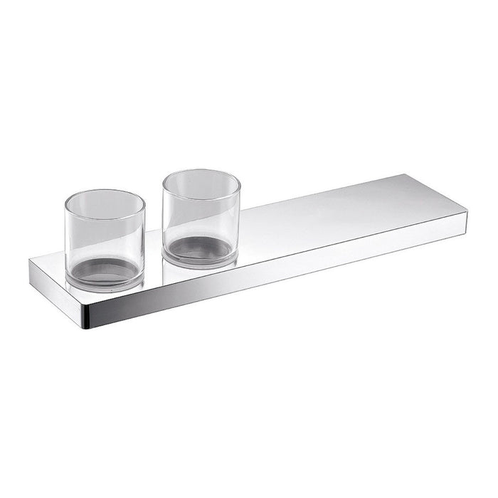 Eneo Shelf with Double Tumbler & Holder (Chrome)