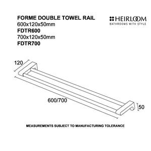Forme Double Towel Rail Diagram