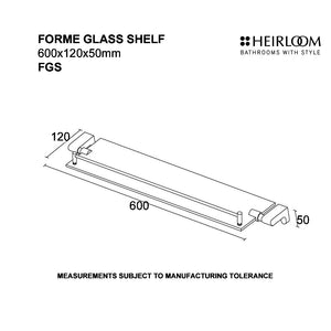 Forme Glass Shelf Diagram