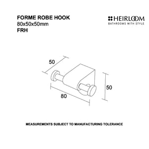 Forme Robe Hook Diagram