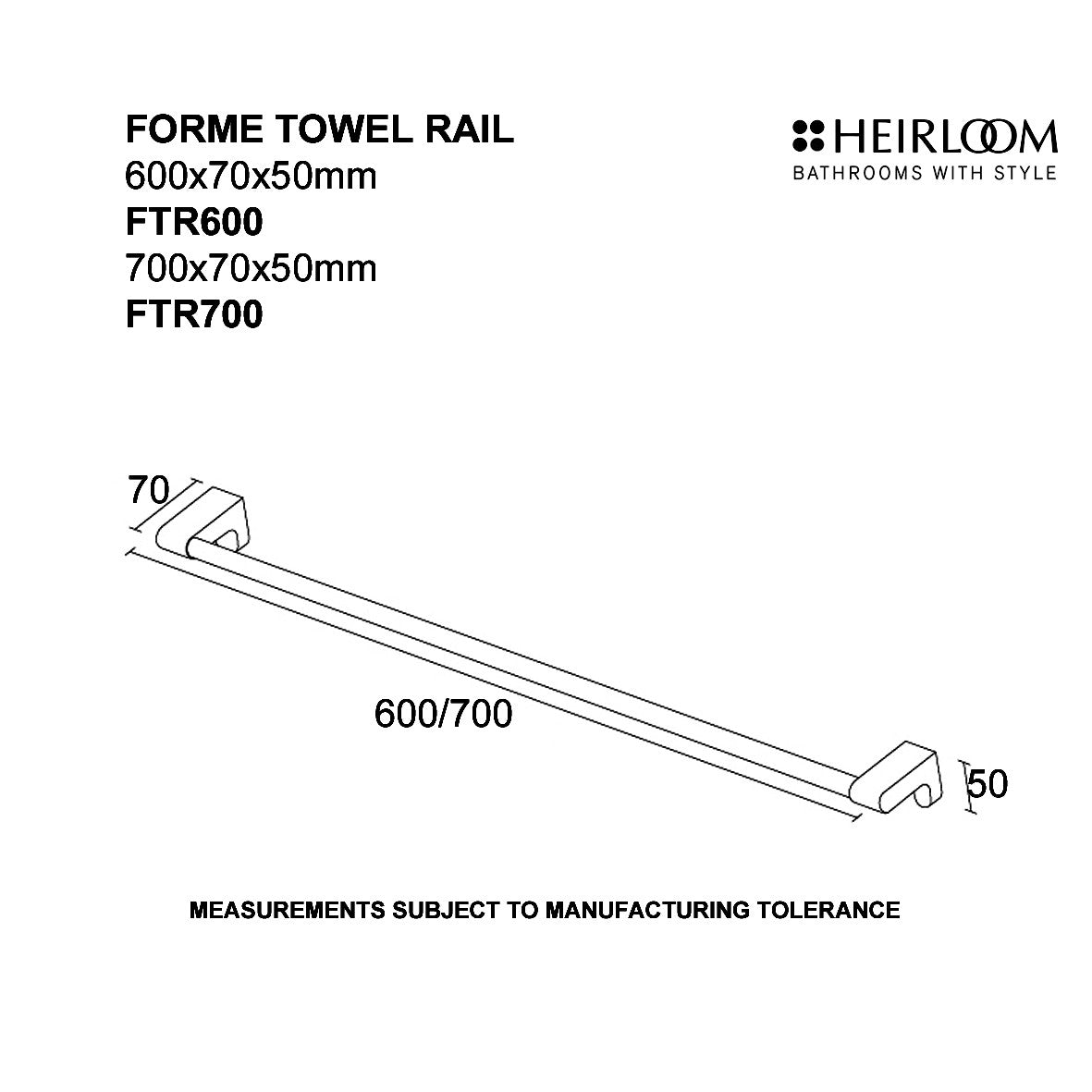 Forme Towel Rail | Online Bathroomware