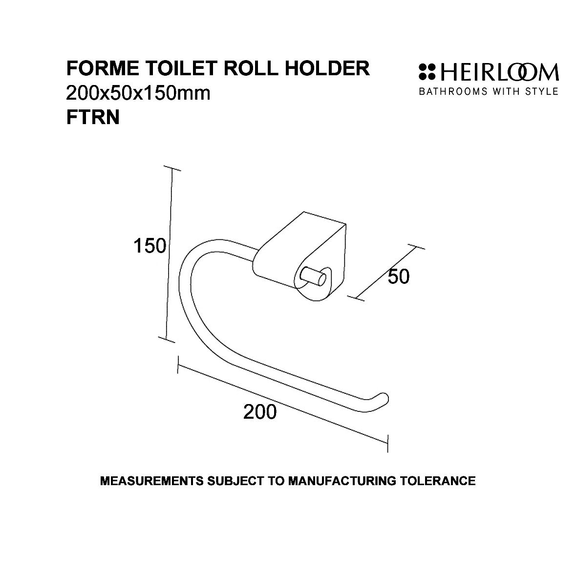 Forme Toilet Roll Holder | Online Bathroomware