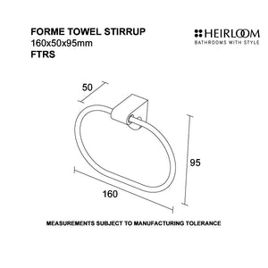 Forme Towel Stirrup Diagram
