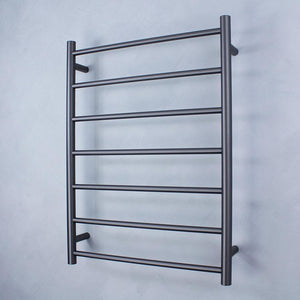 Radiant Heated Towel Rail Round 600x800 (Gun Metal)