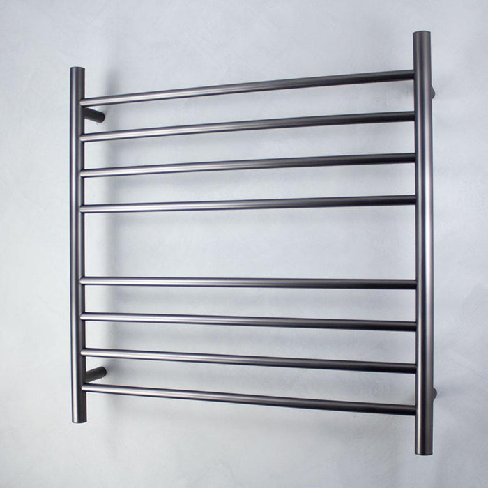 Radiant Heated Towel Rail Round 750x750 (Gun Metal)
