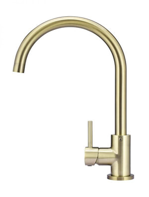 Meir Round Tiger Bronze Kitchen Mixer side view