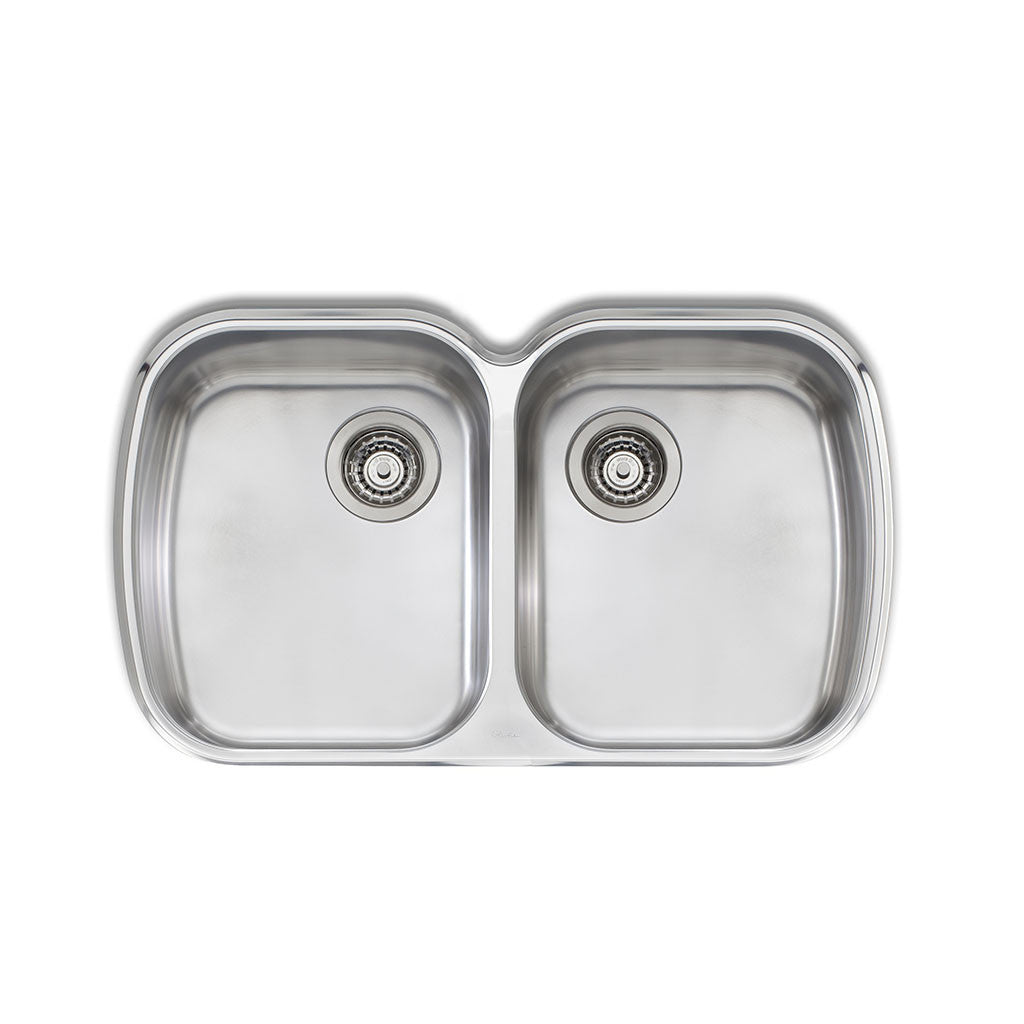 Oliveri Monet Double Bowl Undermount Sink MO70U
