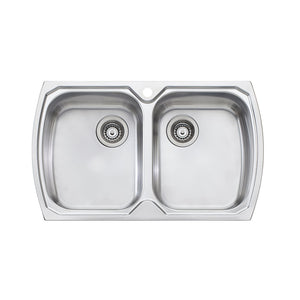 Oliveri Monet Double Bowl Topmount Sink MO763 1TH