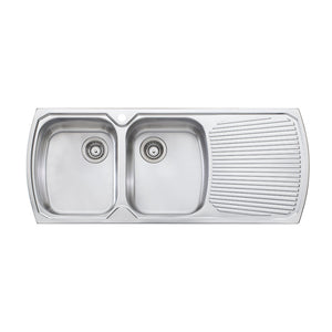 Oliveri Monet Double Bowl Topmount Sink with Drainer MO771 1TH