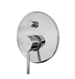 Milan Pin Lever Wall Mixer with Diverter (Chrome)