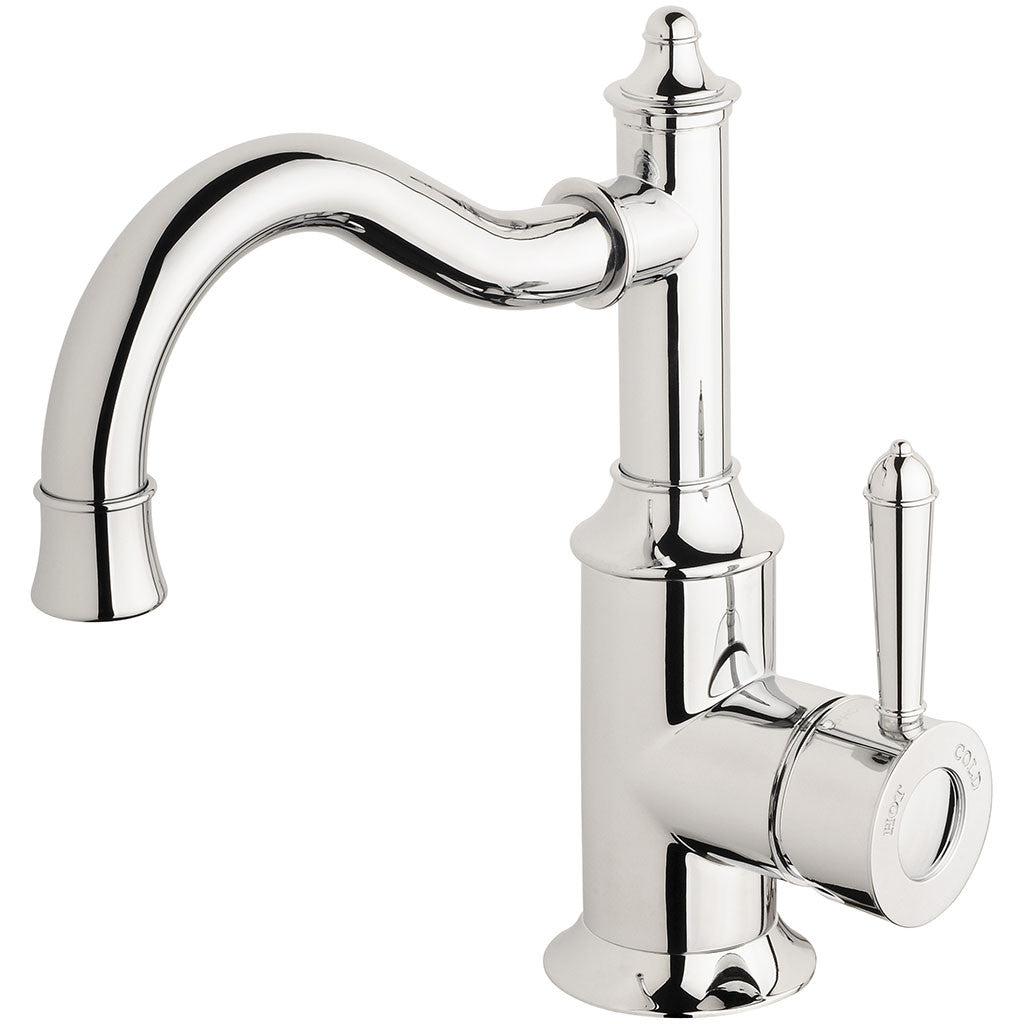 Phoenix Tapware Nostalgia Basin Mixer 160mm Shepherds Crook (Chrome) NS748CHR