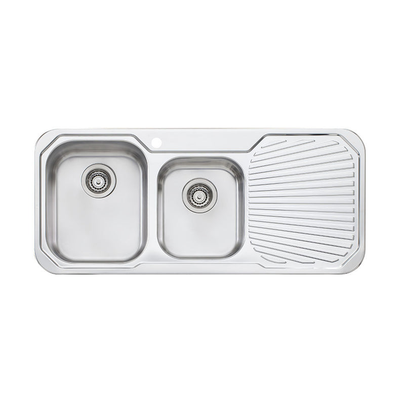 Oliveri Petite 1 & 3/4 Bowl Topmount Sink with Drainer PE311 1TH