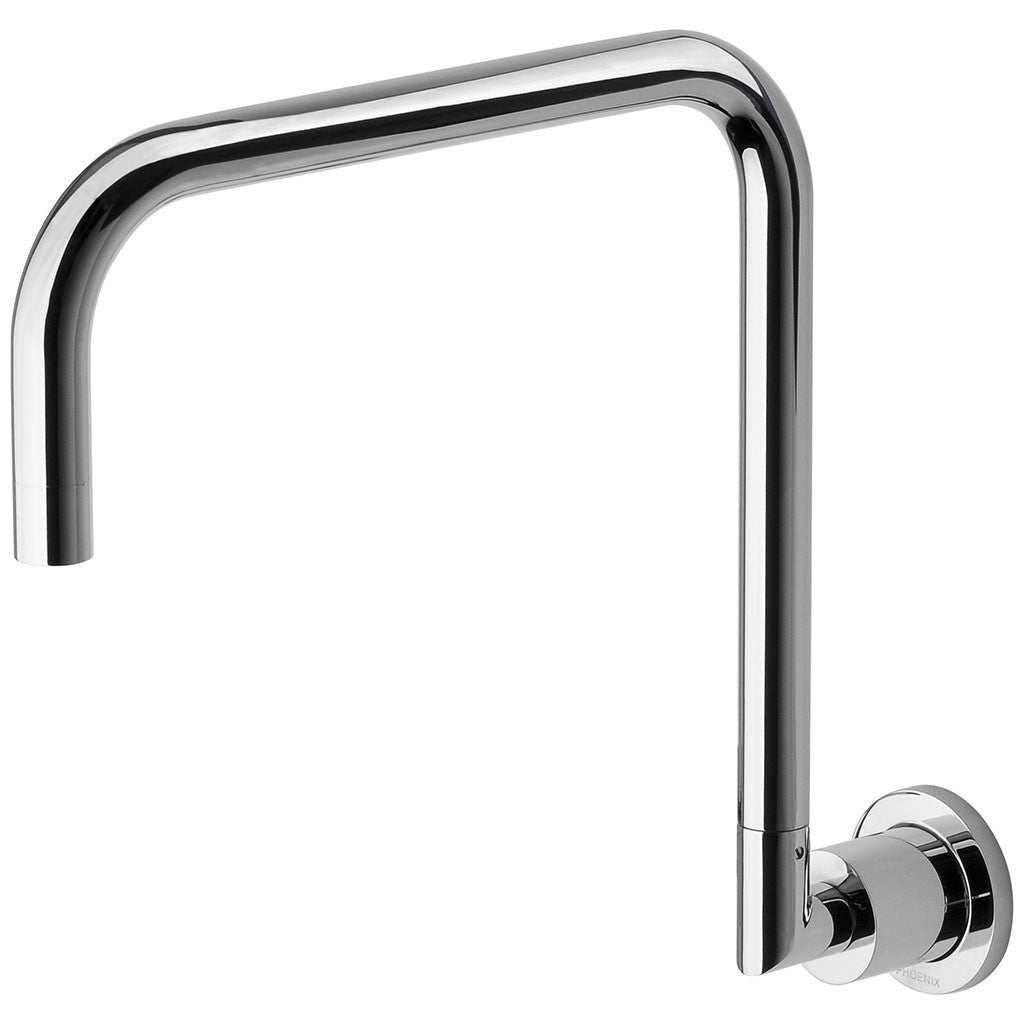 Phoenix Tapware Radii Wall Sink Outlet 300mm Squareline (Chrome) RA073CHR