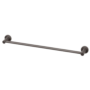 Phoenix Tapware Radii Single Towel Rail 600mm (Round) (Gun Metal) RA804GM