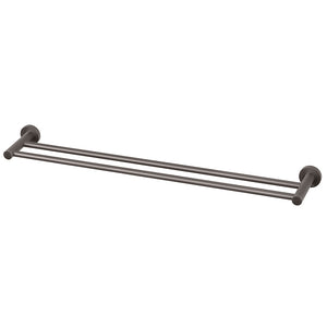 Phoenix Tapware Radii Double Towel Rail 800mm (Round) (Gun Metal) RA812GM