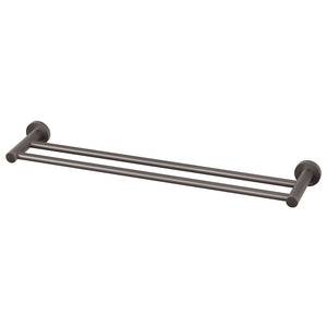 Phoenix Tapware Radii Double Towel Rail 600mm (Round) (Gun Metal) RA813GM