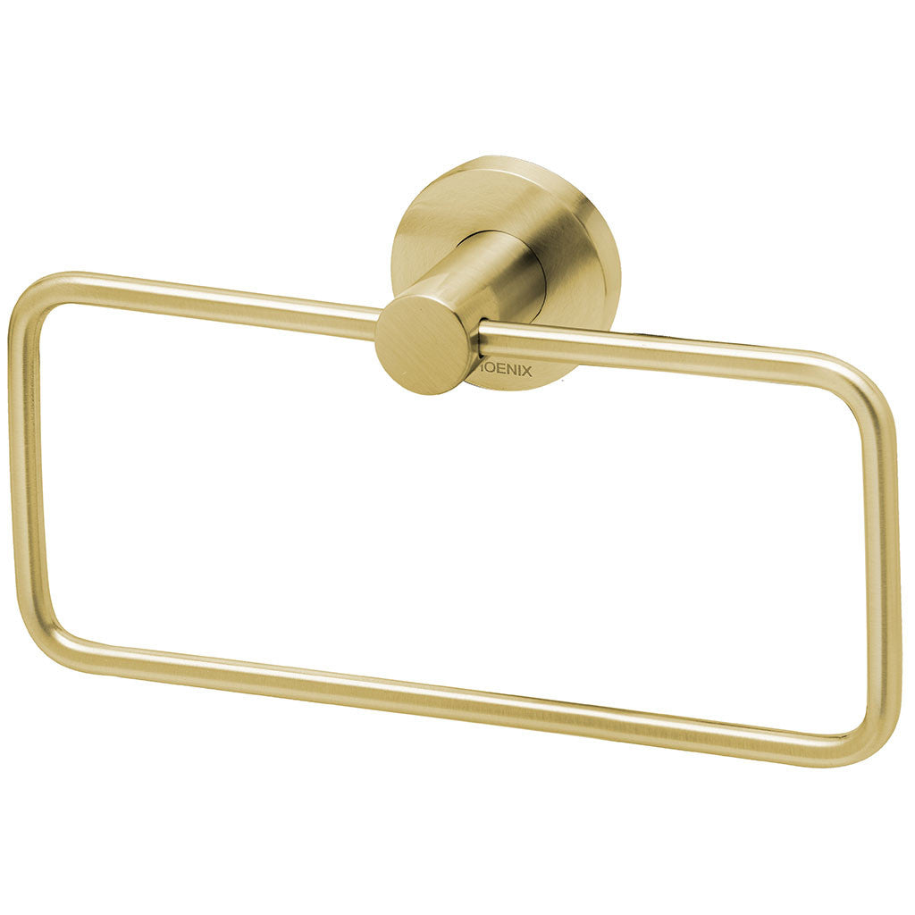 Phoenix Tapware Radii Hand Towel Holder (Round) (Brushed Gold) RA893-12