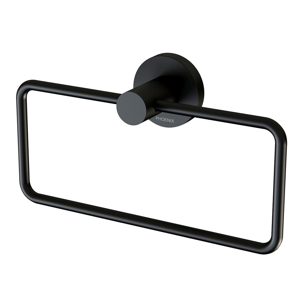 Chrome Hand Towel Stand For Phoenix Tapware Radii Hand Towel Holder round matte Black Ra893mb Online Bathroomware