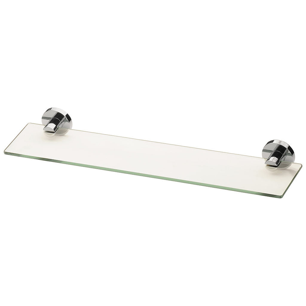 Glass shelving bathroom - Phoenix Tapware Radii Glass Shelf Round Chrome Ra896chr