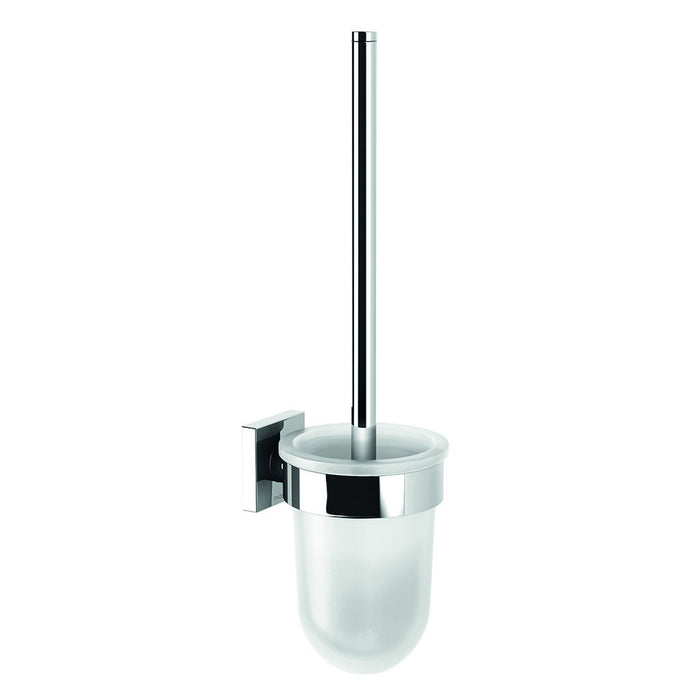 Radii Toilet Brush Holder (Square) (Chrome)