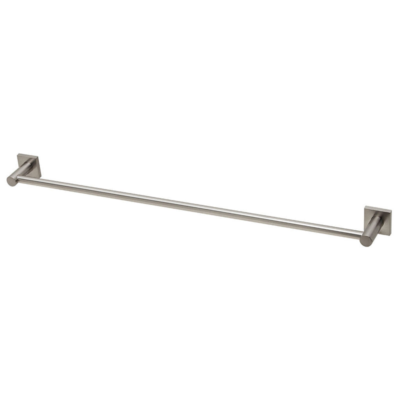 Phoenix Tapware Radii Single Towel Rail 800mm (Square) (Brushed Nickel) RS803BN