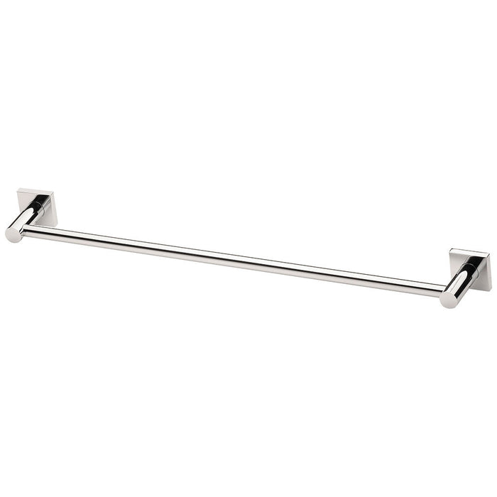 Radii Single Towel Rail 600mm (Square) (Chrome)