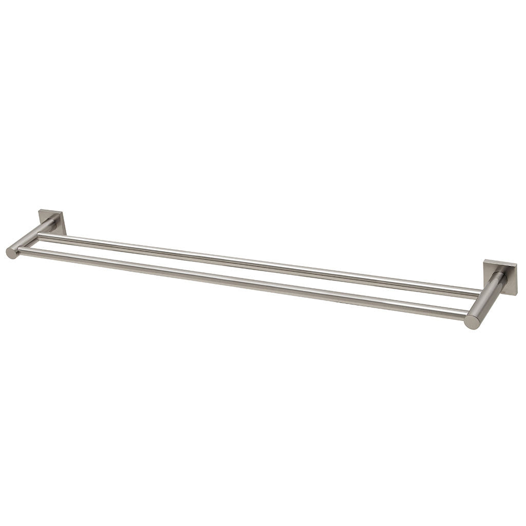 Phoenix Tapware Radii Double Towel Rail 800mm (Square) (Brushed Nickel) RS812BN