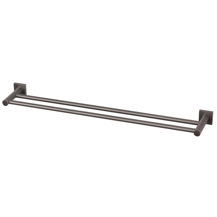 Radii Double Towel Rail 800mm (Square) (Gun Metal)