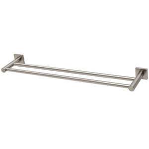 Phoenix Tapware Radii Double Towel Rail 600mm (Square) (Brushed Nickel) RS813BN