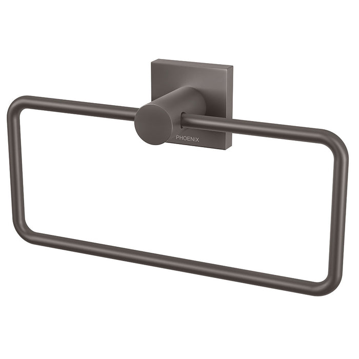 Radii Hand Towel Holder (Square) (Gun Metal Grey)