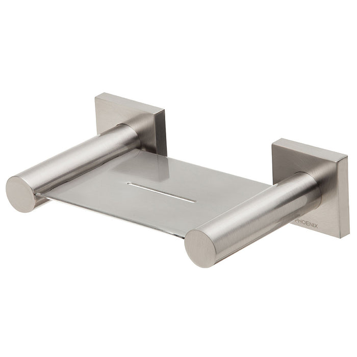 Radii Soap Dish (Square) (Brushed Nickel)