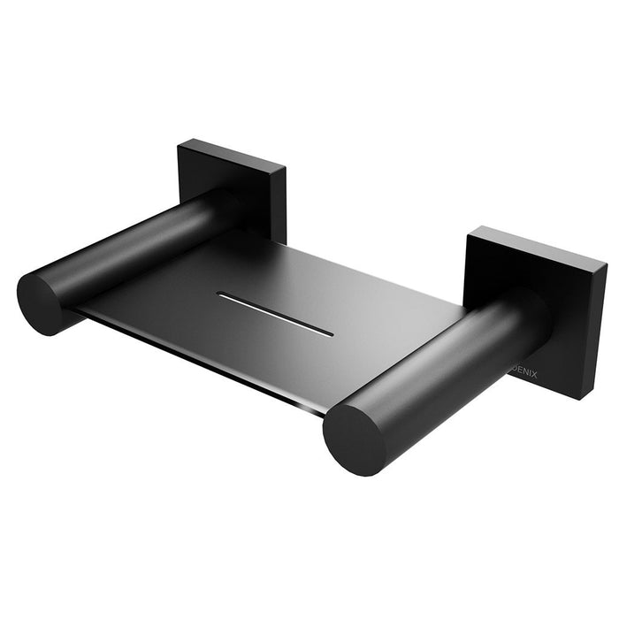 Radii Soap Dish (Square) (Matte Black)