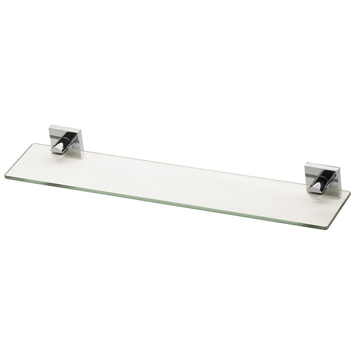 Radii Glass Shelf (Square) (Chrome)